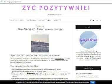 Wordpress blog zycpozytywnie.pl