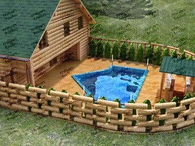 Exterior - Log cabin