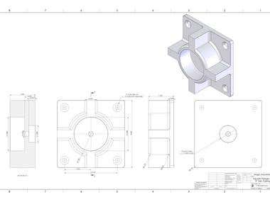 Mechanical Parts Drafting & Modelling