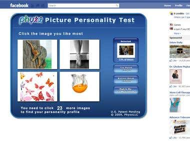 Facebook PersonalityTest Applicatioan