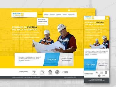 Fortius Solar - Homepage Responsive