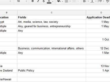Web Scrape for Fellowships