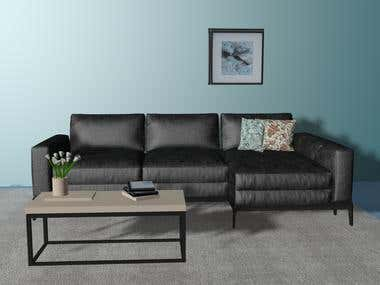 3D Sofa modeling and rendering