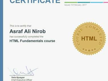 HTML5 Certification    Asraf    SoloLearn