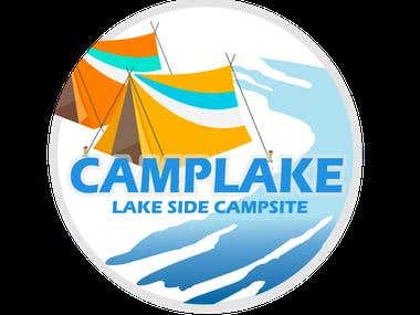 LOGO FOR CAMPLAKE-CAMPSITE BESIDE LAKE
