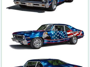 Chevrolet Nova wrap design