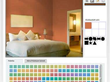 Online wall paint application