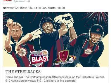 Northamptonshire Steelbacks, Natwest T20 Paid Advertisement