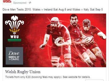 Welsh Rugby Union Paid Advertisement