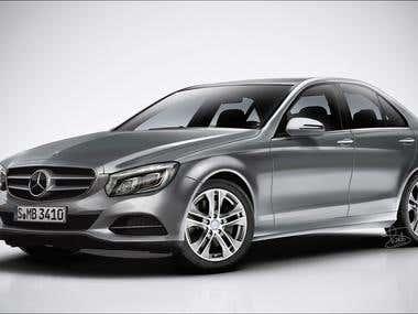 Mercedes-Benz C class rendering