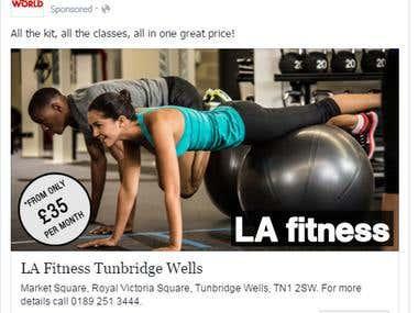 LA Fitness Paid Advertisement