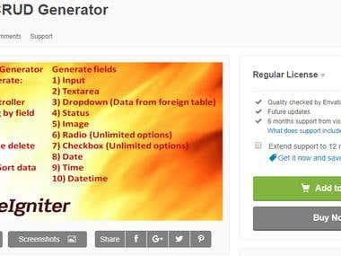 codeigniter crud generator