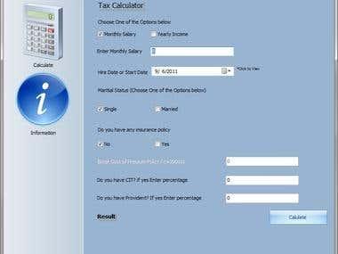Tax Calulator