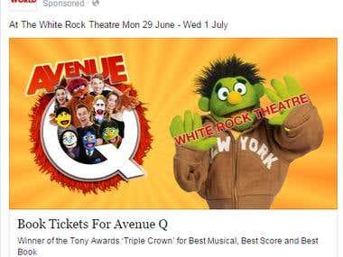 White Rock Theatre, Avenue Q Paid Advertisement
