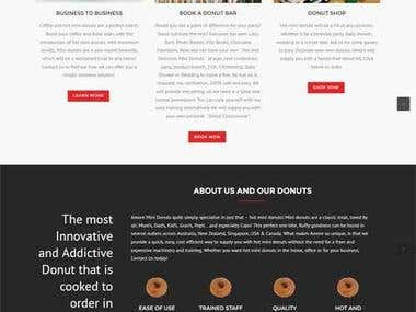 Food Product WP Landing Page Design