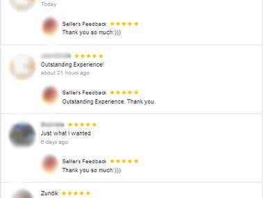 Recent feedback of my clients