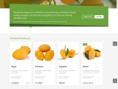 Mock-Up for e-commerce site
