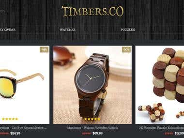 Adding Products to Timbers.co