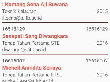 NIM Finder ITB (Student Identification Number Finder)