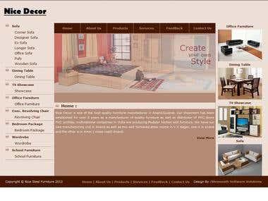 Furniture Shop Website