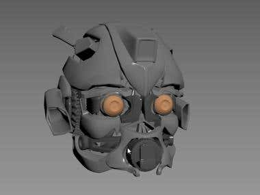Bumble bee head 3d model