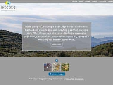 Responsive WordPress website for Rocks Biological Consulting
