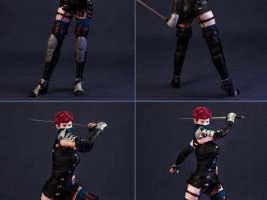 Lethal Whisper - 3D character Outfit