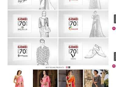 Shopping websites Mock-up