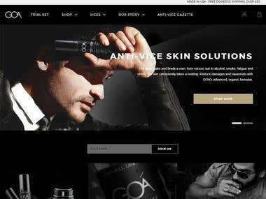 Shopify Web - Skin care