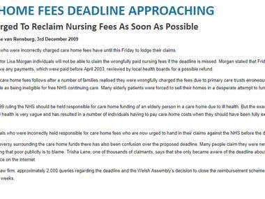 Care Home Fees Deadline Approaching