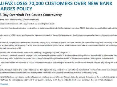 Halifax Loses 70 000 Customers
