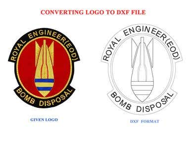 CONVERTING LOGO TO DXF (JPEG TO DXF)