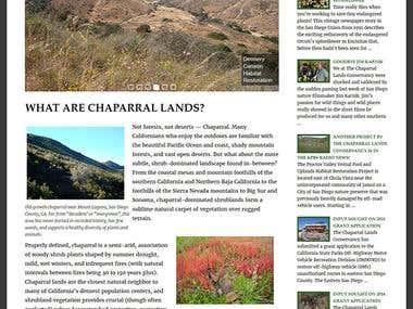 The Chaparral Lands Conservancy