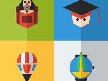 Flat Logos/Graphics