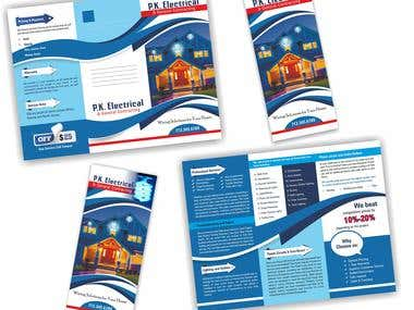 This is a brochure design for client