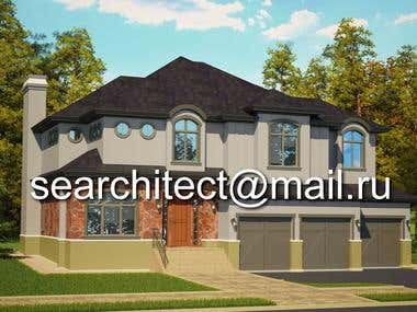 Visualization and Modeling 3d Canadian House