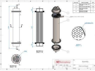 Drawing of a heat exchanger !