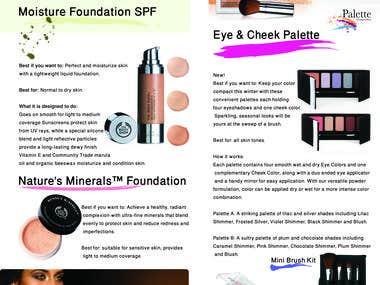 Makeup brochure