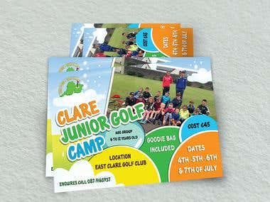 Clare Junior Golf Camp Flyer