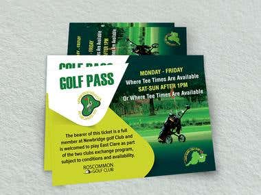 Golf Pass Ticket