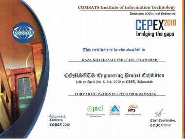 Speed Programming Competition - CEPEX COMSATS