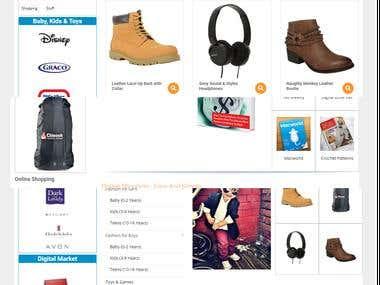 wordpress multishop ecommerce site