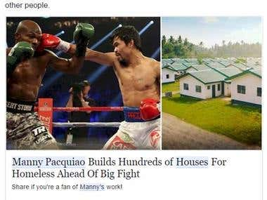 Viral Article for Manny Pacquiao