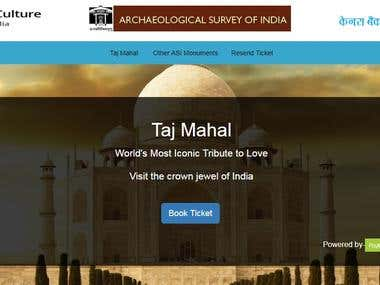 Online monuments Ticket Booking