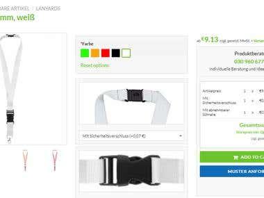Custom pricing Calculator and color management custom plugin