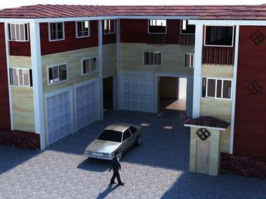 residential building modeling and rendering