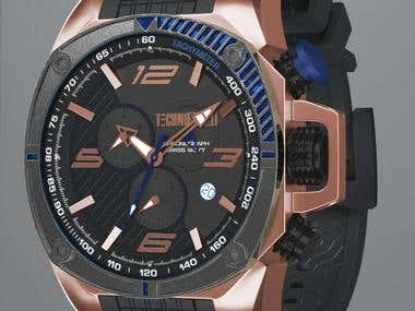 Technosport 3D model Watch