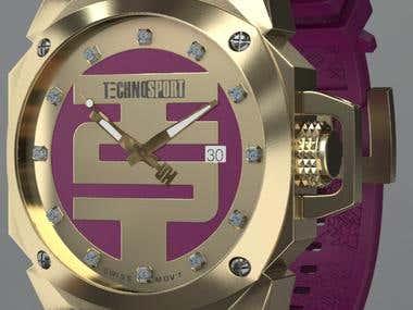 Technosport 3D model Watch