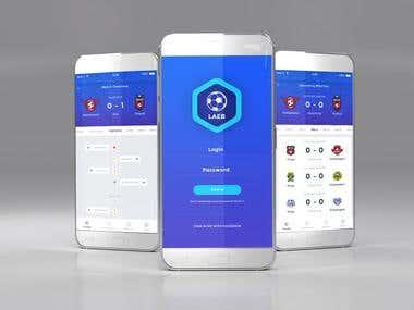 Football league mobile app