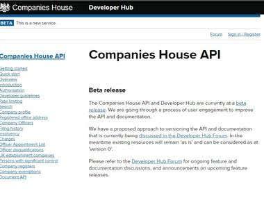 Companies House API Integration